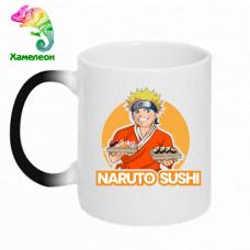 Кружка-хамелеон Наруто суши. Аниме Наруто