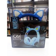 Bluetooth неко-наушники (Голубые)
