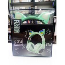 Bluetooth неко-наушники (Зеленые)