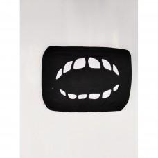 Маска чёрная Зубы