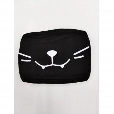 Маска чёрная мордочка кота